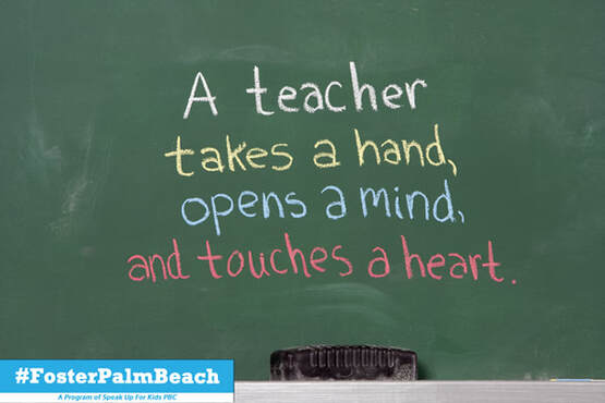 Teacher's make a difference to foster children every day at Palm Beach Schools
